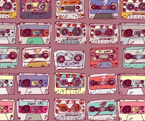 cassette, music, and vintage image