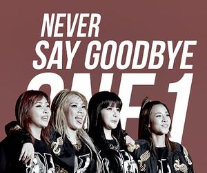 2ne1, goodbye, and never image