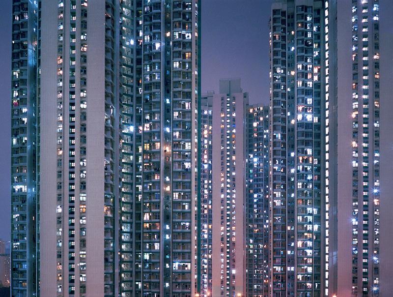 city, light, and pastel image