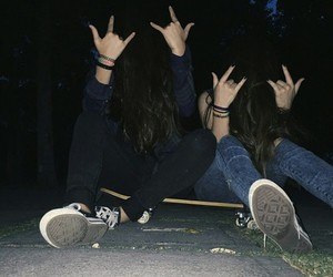 grunge, friends, and aesthetic image