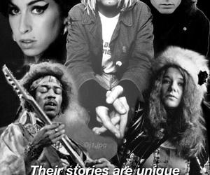 Amy Winehouse, janis joplin, and Jim Morrison image