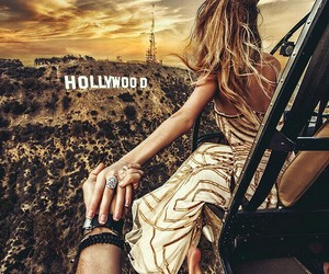 hollywood, couple, and travel image