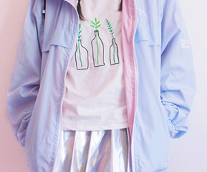 pastel, pink, and outfit image