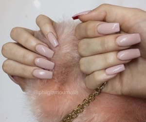 nails, acrylics, and pretty image