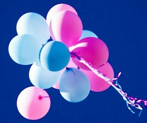 blue and pink image