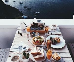 food, breakfast, and sea image