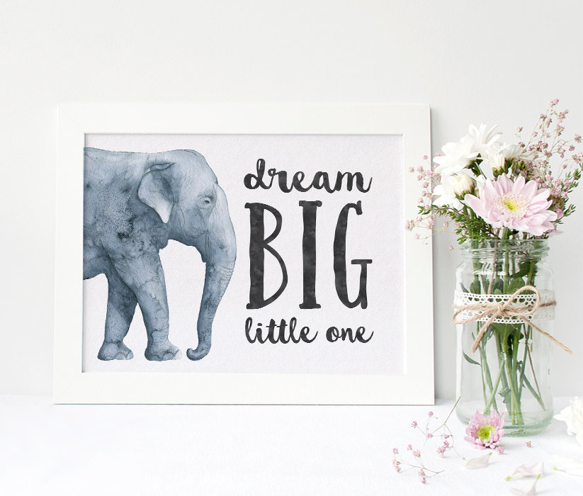 Dream Wall Art Baby Shower Gift Minimalist Decor