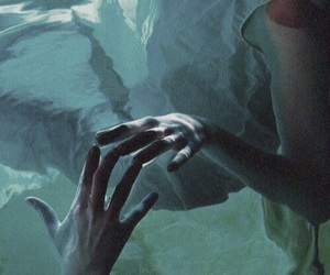 water, hands, and blue image
