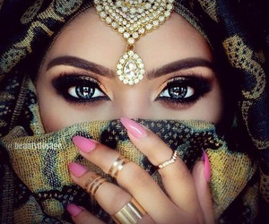 arabic, woman, and beautiful image