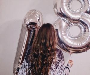 18, balloons, and birthday image