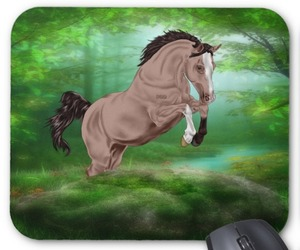 horses, mouse pads, and computer accessories image