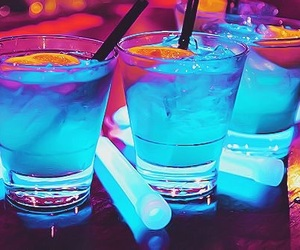 drink, blue, and party image