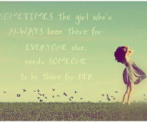 girl, quote, and love image