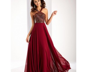 dress, line, and long image