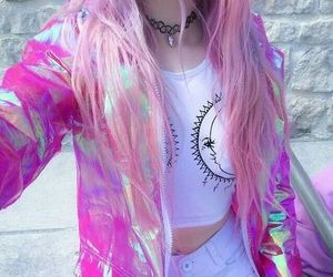 pink, grunge, and hair image