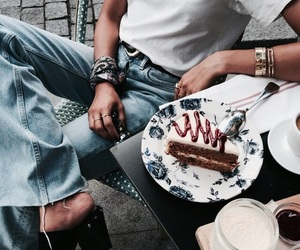 fashion, blue, and food image