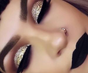 eye lashes, eyeliner, and eyebrows image
