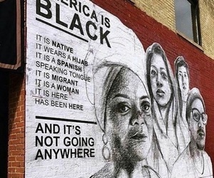 america, black, and woman image