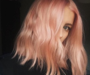 hair, pink, and beauty image