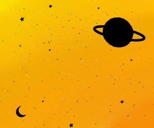 yellow, aesthetic, and space image