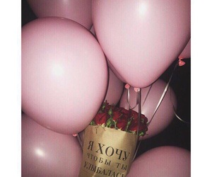 balloons, flowers, and pink image