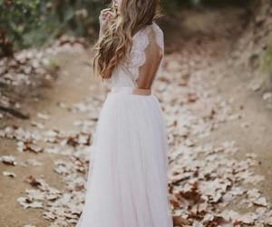 beautiful, dress, and wedding image