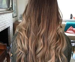 blonde, brown, and curls image