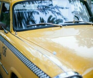 taxi and yellow image