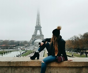 eiffel, outfit, and love image