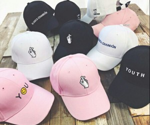 fashion, cap, and pink image