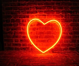 bright, heart, and neon image