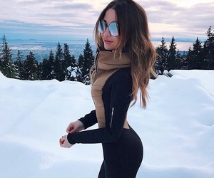 fashion, snow, and style image