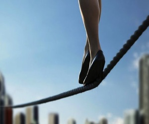circus and tightrope image