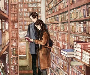 book, love, and art image