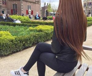 hair, adidas, and long image
