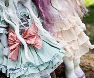 doll, dress, and unicorn image