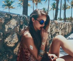 girl, summer, and boho image