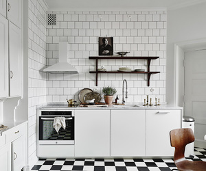 apartment, kitchen, and white image