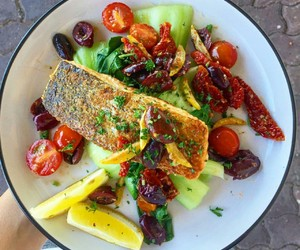 fish, fitness, and food image