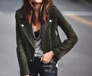 biker, suede, and casual image