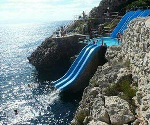 fun, water, and italy image