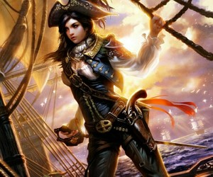 beautiful, captain, and pirate image