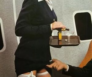 stewardess, sexy, and airplane image
