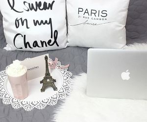bed, bedroom, and chanel image
