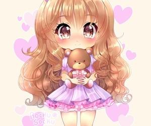 anime, beautiful girl, and illustration image