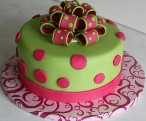 bow, cake, and fondant image