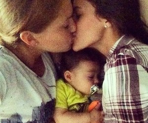 lesbian, love, and baby image