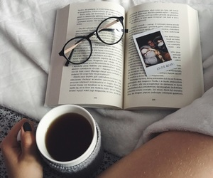 book, cosy, and glasses image