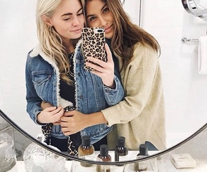 blonde, brunette, and fashion image