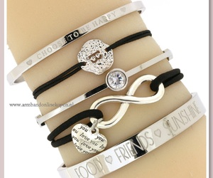 I Love You, infinity, and letter bracelet image